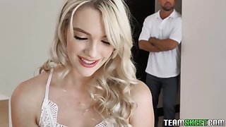 Beautiful Zoe Sparx loves exposing tits with an increment of playing with some copulation toys