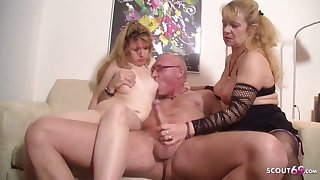Ugly Teenage Pounded hard by older Couple far 3Some