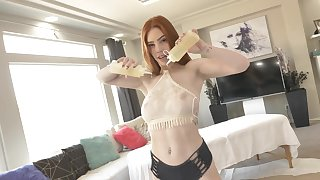 Abysm sex in the bedroom with my slutty step sis