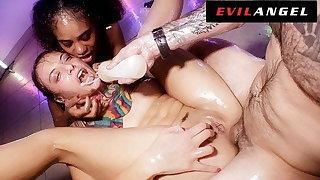EvilAngel - Gia & Scarlit Get Sloppy & Oily Ass Shagging