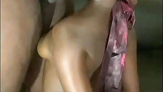 Blindfolded Coal-black Teen Throat Fucked Increased by Backshots by BBC With Her Hands Tied