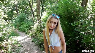 POV alfresco fucking in the forest up blonde small tits Empera